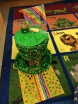 A colorful rainbow path leads this leprechaun into a  trap!